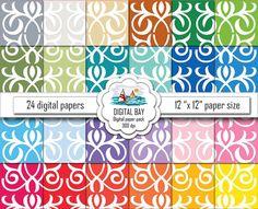 ORIENTAL  Digital paper pack  Instant download  by DigitalBay