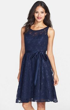 Example of possible midnight blue bridesmaid dress re:style and color