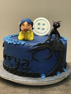 Book Birthday Parties, Guys 21st Birthday, Halloween Birthday Cakes, Delicious Cake Recipes, Yummy Cakes, Horror Cake, Coraline Art, Coraline Jones, Korean Cake