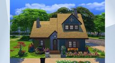 Check out this lot in The Sims 4 Gallery! - #sandersarchitects #nocc #nomoo #playtested #cottage This lovely quaint little #autumnal family home comes with #2bedrooms and #2bathrooms.