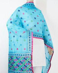 Chanderi Phulkari Dupatta Rs.1,499.00  Shop Now: www.jankiphulkari.com