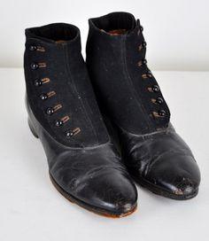 Victorian Era Dress Shoes | Victorian Mens Shoes Vintage men's boots- victorian young gentleman