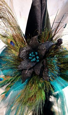 Ms Peacock's Witch Hat by Marcellefinery on Etsy