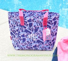 Monogrammed Lilly Pulitzer Insulated Cooler Tote Bag - Lilly Pulitzer Booze Cruise. $38.95
