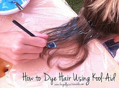 This is the most clear kool aid hair tutorial that I've seen :) I might try a little section for fun this summer :)