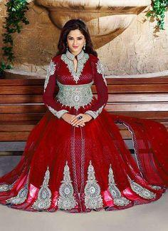 Anarkali indian bollywood pakistani stone work red salwar kameez suit Eid sale #Handmade #Salwarkameez