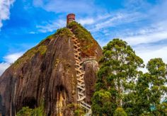 Amazing  200 m staircase up the Rock of Guatape, Columbia