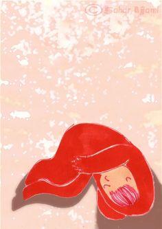 babyen sover A3 Signert trykk Sign Printing, Baby Sleep, A3, Illustrations, Kunst, Illustration, Illustrators