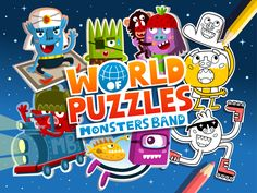 Splash screen of the second game of the MB: World of Puzzles