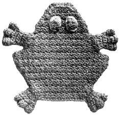 Freddy Frog Potholder   Free Crochet Patterns