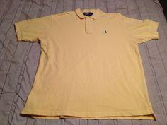 Men's Polo by Ralph Lauren Golf Shirt - Yellow - Size XL #PolobyRalphLauren #PoloRugby