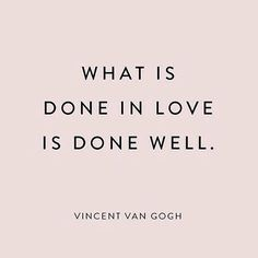 Quote of the day. #dowhatyoulove #happytuesday #quoteoftheday #vincentvangogh #quote #blog #lifestyleblog #sotrue #instablog #lifestyle #doneinlove #inspoquote by interiorofmylife