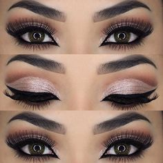 Makeup, Style & Beauty. Love this look. Shop beautiful mineral eye pigmenst and cream shadow @ www.lashesbymj.com. Also have FAB liquid eyeliner in 6 colors!