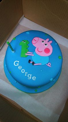 You are in the right place about Birt. George Pig birthday cake November … You are in the right place about Birthday Cake illustrat Peppa Pig Birthday Cake, Twin Birthday Cakes, Paw Patrol Birthday Cake, Birthday Cake With Flowers, Flower Birthday, 40th Birthday, George Pig Cake, Birthday Cake Illustration, Pig Cakes