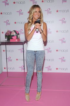 Ashley Tisdale kicks of Pumas Project Pink with pink hair streaks!
