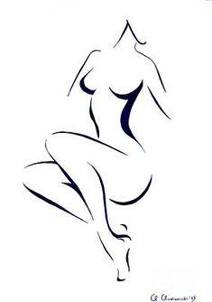 Nude Girl Drawing Art Sketch Framed Prints - Graisha Framed Print by Anna Androsovski Female Body Paintings, Female Body Art, Human Body Art, Body Art Paintings, Painting Art, Art Drawings Sketches, Drawing Art, Female Drawing, Body Sketches
