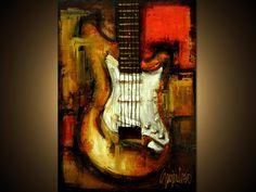 Original Painting - Modern Abstract Art by SLAZO - 30x40. $425.00, via Etsy. by Slazo