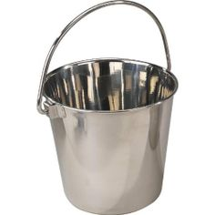 ProSelect Stainless Steel Heavy Duty Pail, 8-3/4-Inch, 6-Quart - http://www.thepuppy.org/proselect-stainless-steel-heavy-duty-pail-8-34-inch-6-quart/