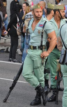 The Spanish Foreign Legion.  I'm Joining.   Gay Places.  #gay, #hotmen,