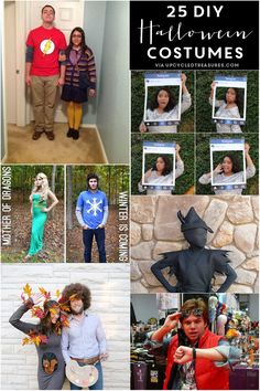 Check out these 25 Creative #DIY #Halloween Costume Ideas! UpcycledTreasures.com