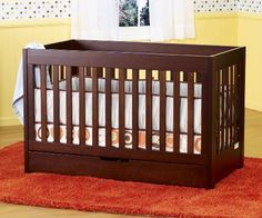 Babyletto Mercer 3 in 1 Convertible Crib with Toddler Rail. $399 + Free Shipping #convertible #baby #cribs