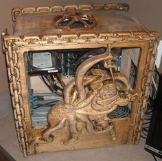 Build A PC 676314069030705634 - Exceptional Hand Carved Wood Computer Case Collection – Wood Carved Source by Wood Carving Faces, Wood Carving Designs, Wood Carving Patterns, Wood Carving Art, Wood Patterns, Wood Art, Wood Computer Case, Custom Computer Case, Custom Computers