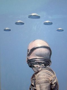 """""""The ships hung in the sky in much the same way that bricks don't.""""  The Hitchhiker's Guide to the Galaxy Aliens And Ufos, Ancient Aliens, Interstellar, Alien Aesthetic, Mystery, Grunge, Flying Saucer, Science Fiction Art, Sci Fi Fantasy"""