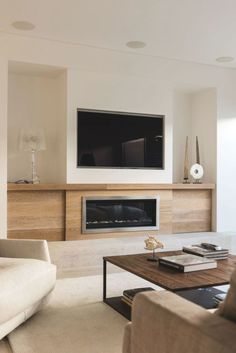 Built In Tv Wall Unit, Wall Units With Fireplace, Fireplace Feature Wall, Built In Shelves Living Room, Feature Wall Living Room, Tv Above Fireplace, Basement Fireplace, Living Room Wall Units, Fireplace Built Ins