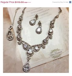 A personal favorite from my Etsy shop https://www.etsy.com/listing/222072715/bridal-jewelry-set-wedding-jewelry