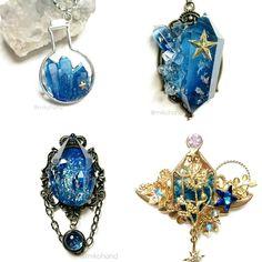 Kawaii Jewelry, Cute Jewelry, Jewelry Accessories, Jewelry Design, Boho Necklace, Gemstone Necklace, Crystal Necklace, Magic Design, Magical Jewelry