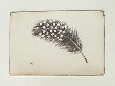 black feather with white dots tattoo - Google Search