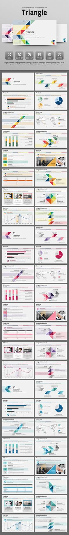 "Buy Simple Triangle by on GraphicRiver. ""Triangle"" PowerPoint Presentation template is designed to be used for your general business presentation, company pr. Powerpoint Presentation Themes, Design Presentation, Business Presentation, Powerpoint Presentations, Web Design, Slide Design, Book Design, Layout Design, Template Brochure"