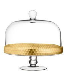 Another great find on #zulily! Gold Daphne Pedestal Plate & Dome #zulilyfinds