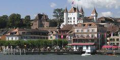 Nyon Switzerland, Canada, Explore, Mansions, House Styles, Lake Geneva, Fancy Houses, Exploring, Mansion