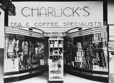 B 60669 Premises of Charlick's, tea and coffee specialists, 15 Rundle Street, (now Mall) Adelaide. Visit the State Library of South Australia to view more photos of South Australia. French Crafts, Vintage Country, South Australia, Historical Photos, Art World, Old Photos, Cities, Art Deco, Tea
