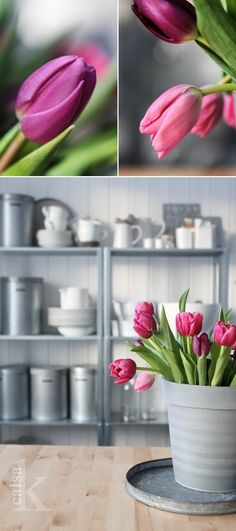 lovely contrast of soft flowers and vintage metals