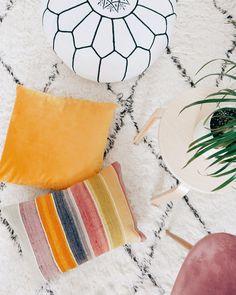 Striped Kilim Lumbar Pillow