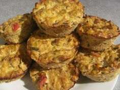 Vege mini quiches - great for taking out as a shared plate. You can use whatever veges you like - mushrooms, peppers, courgettes are ideal, mix with egg whites and herbs and seasonings of your choice, then bake in muffin pans for about 20 minutes. I used nutritional yeast flakes in these to give a savoury cheesy taste, yummy! They're also yummy made with cottage cheese.