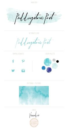 organic watercolor branding for Puddingstone Post | b is for bonnie design