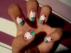 Tiny nail design blog: Muffin nails