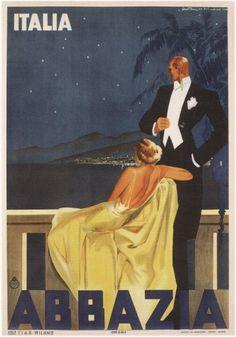 By Walter Molino, 1 9 3 7, Abbazia Italy. (It.)