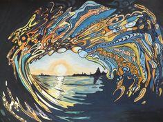 cazbag hawaii wave painting.