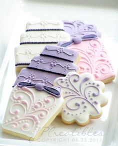 lovely cookies for a wedding! from JP Creatibles