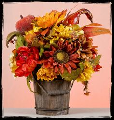 rustic floral arrangement | Hand Crafted Thanksgiving Floral Arrangement by Rustic Elegance ...