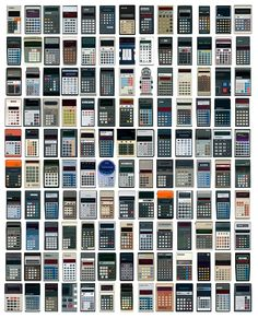 Calculator typology.  Vintage Calculators Web Museum collection. Blast from the past.