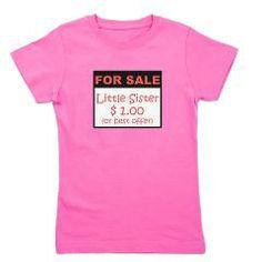 Little Sister For Sale Girl's Tee