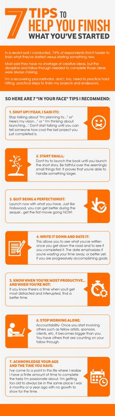 Finish what you have started! Infographic