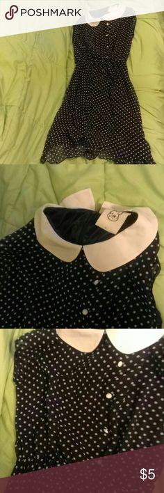 Polkadot Peter Pan collar dress Dress with collar and Polkadots Dresses Midi