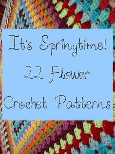 22 Flower #Crochet Patterns to Celebrate Spring!