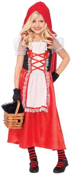 girl's costume: red riding hood 2 piece | medium